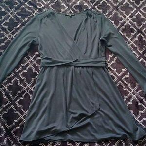 Faux wrap mini dress